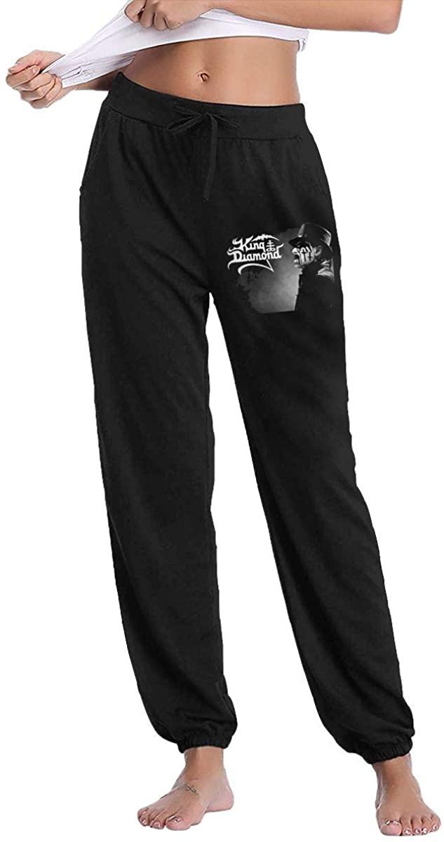 King Diamond Women's Fleece Inside, Moderate Feel, Slightly Elastic, Long Pants