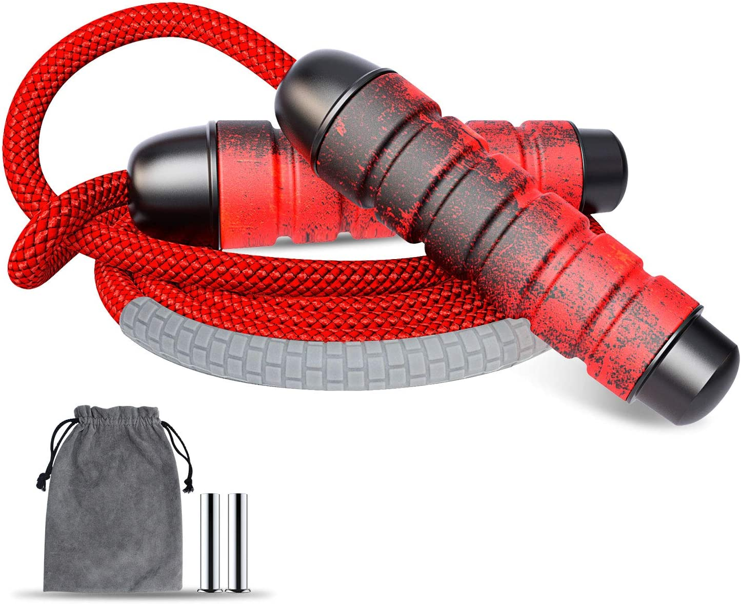 Comsoon Jump Rope, Tangle-Free Adjustable Jumping Rope with Ball Bearings, Durable Skipping Rope with Memory Foam Handles & Weight Blocks for Fitness Workout Cardio Endurance Training