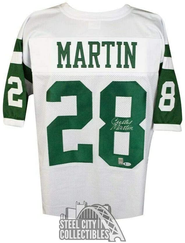 Signed Curtis Martin Jersey - Custom White BAS COA - Beckett Authentication - Autographed NFL Jerseys