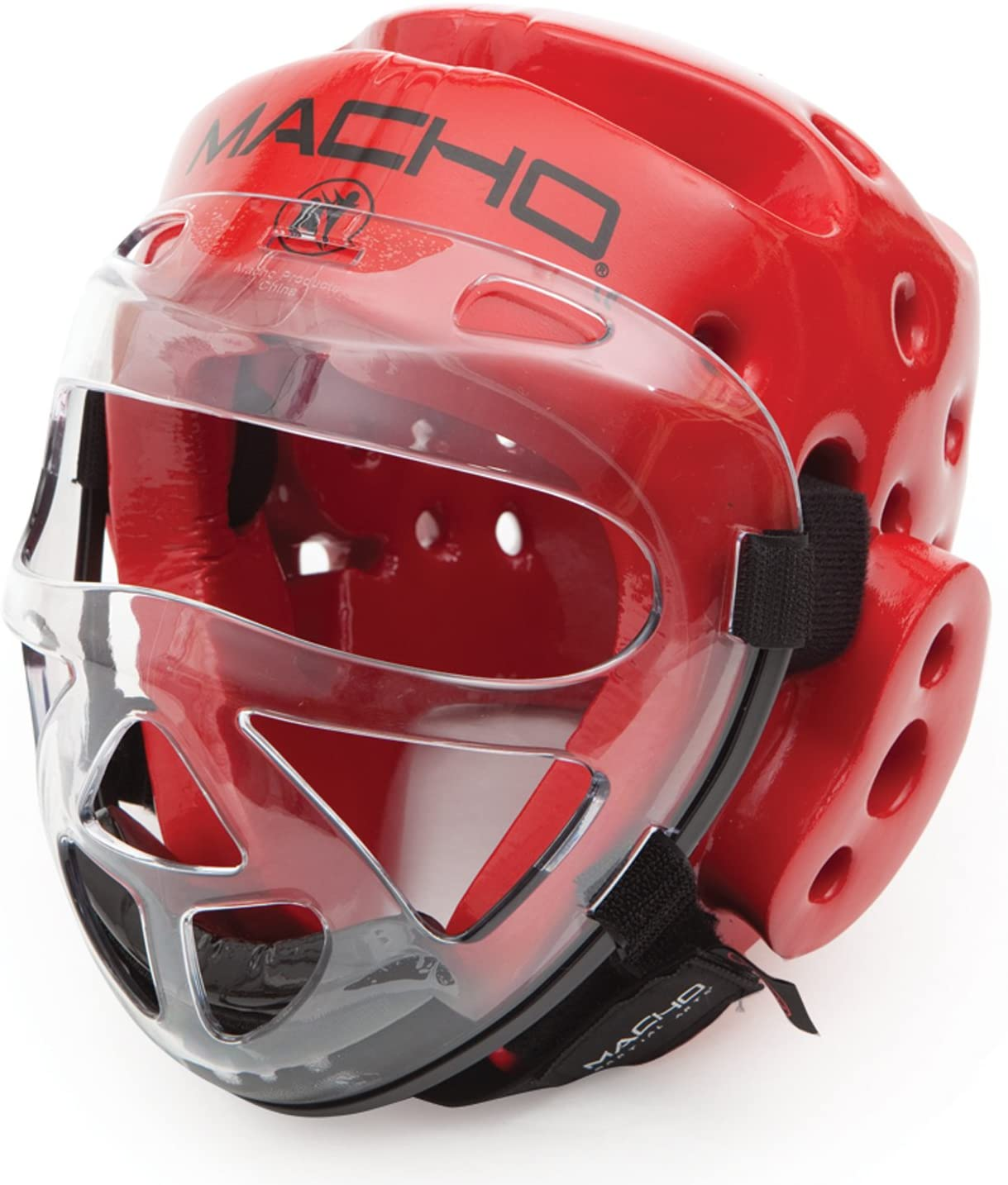 Macho Dyna Head Black Small and Clear Face Shield