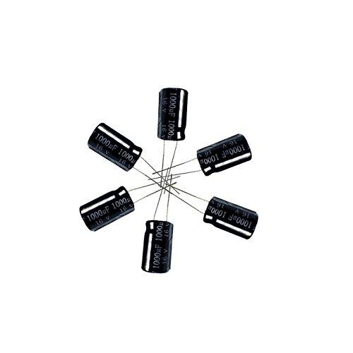 1000uF 16V 10X16 +/-20% -40 to +105°C 20PCS Aluminum Electrolytic Capacitors,16v Capacitor,1000uF Capacitor,1000uF 16V Capacitor