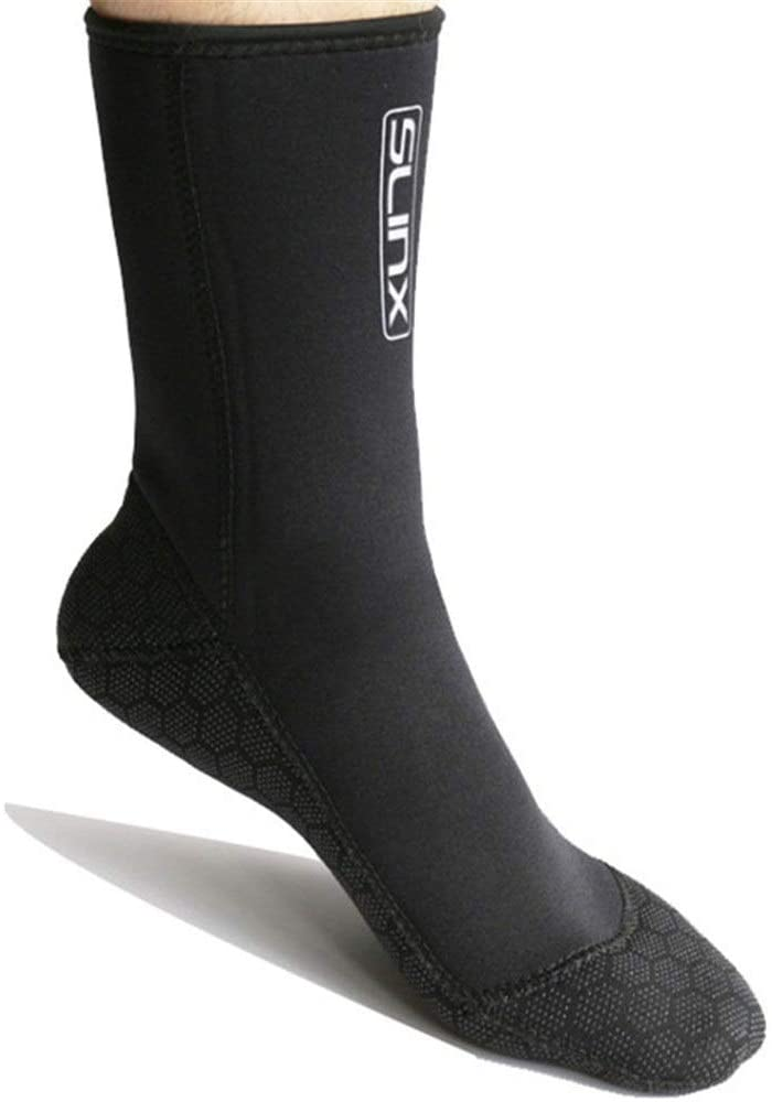 PUEEPDEE Diving Socks Cold Resistant 3mm Super-Elastic Non-Slip Anti-wear Ankle Scuba Diving Socks Thermal Beach Sock (Color : Black, Size : XL(44-45))