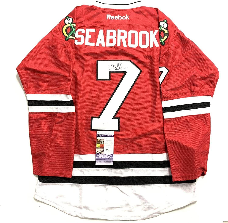 Brent Seabrook Signed Jersey COA Chicago Blackhawks Autographed - JSA Certified - Autographed NHL Jerseys