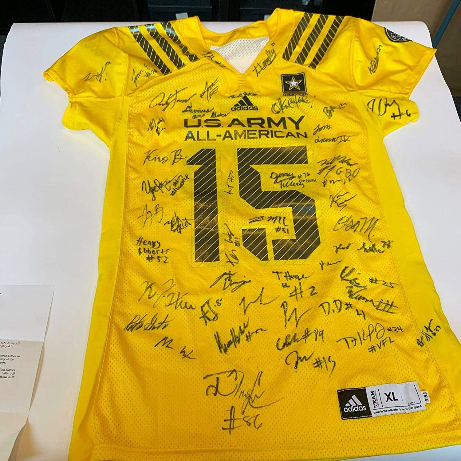 2015 U.S. Army All-American Bowl Team-Signed Jersey 45 Sigs Drew Lock COA - JSA Certified - Autographed College Jerseys