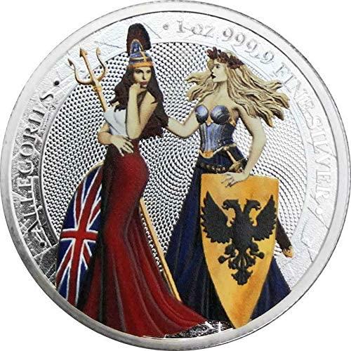 Germania 2019 5 Mark Germania & Britannia - Coloured 1Oz Silver Bullion
