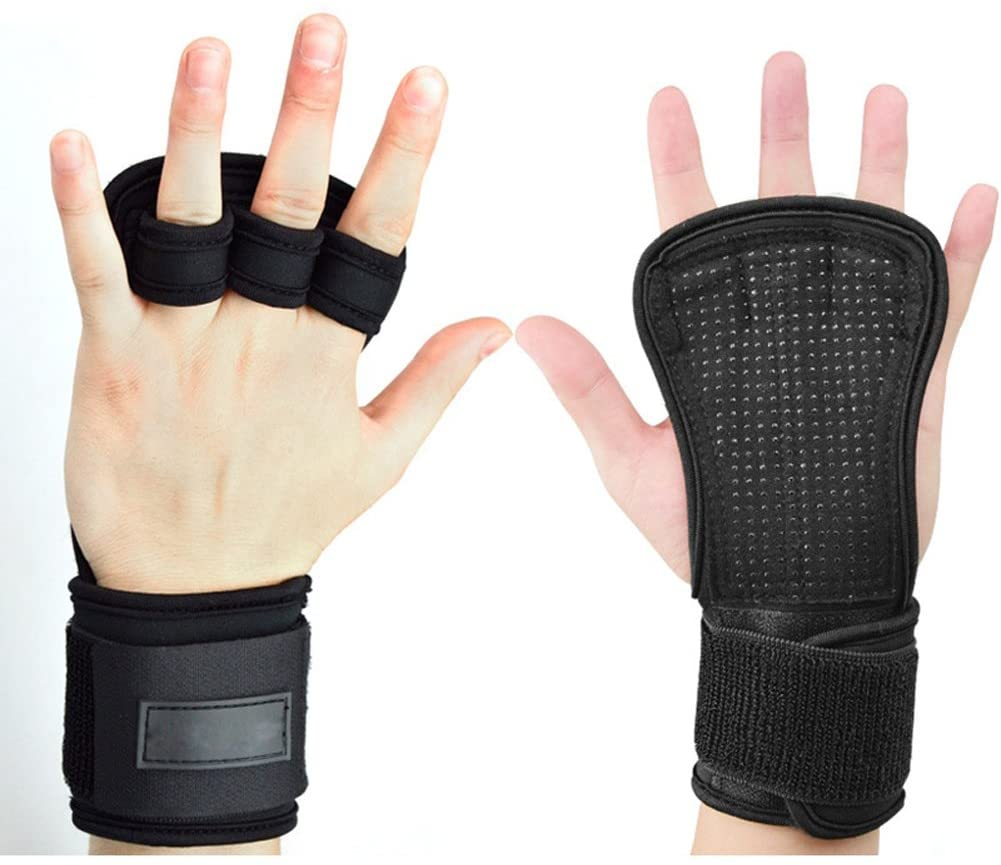 Gym Gloves Women Men with Wrist Support for Weight Lifting Training Fitness Workout,Black,1Pcs