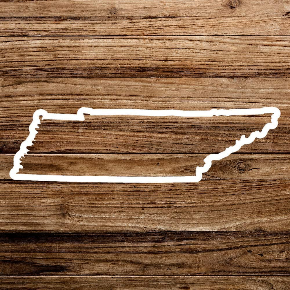 None Brand Tennessee TN State Outline Vinyl Sticker Graphic Bumper Tumbler Decal for Vehicles Car Truck Windows Laptop MacBook Phone Wall Door