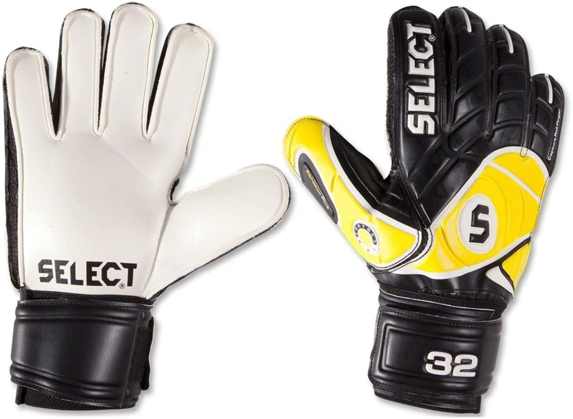 Select Sport America 32 Goalkeeper Glove, Black/Yellow, Size 11