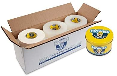Howies Hockey Tape - 6 White Cloth & 6 Clear Shin Pad and Free Tape TIN