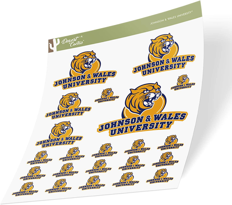 Johnson & Wales University JWU Wildcats NCAA Sticker Vinyl Decal Laptop Water Bottle Car Scrapbook (Sheet Type 3-1)