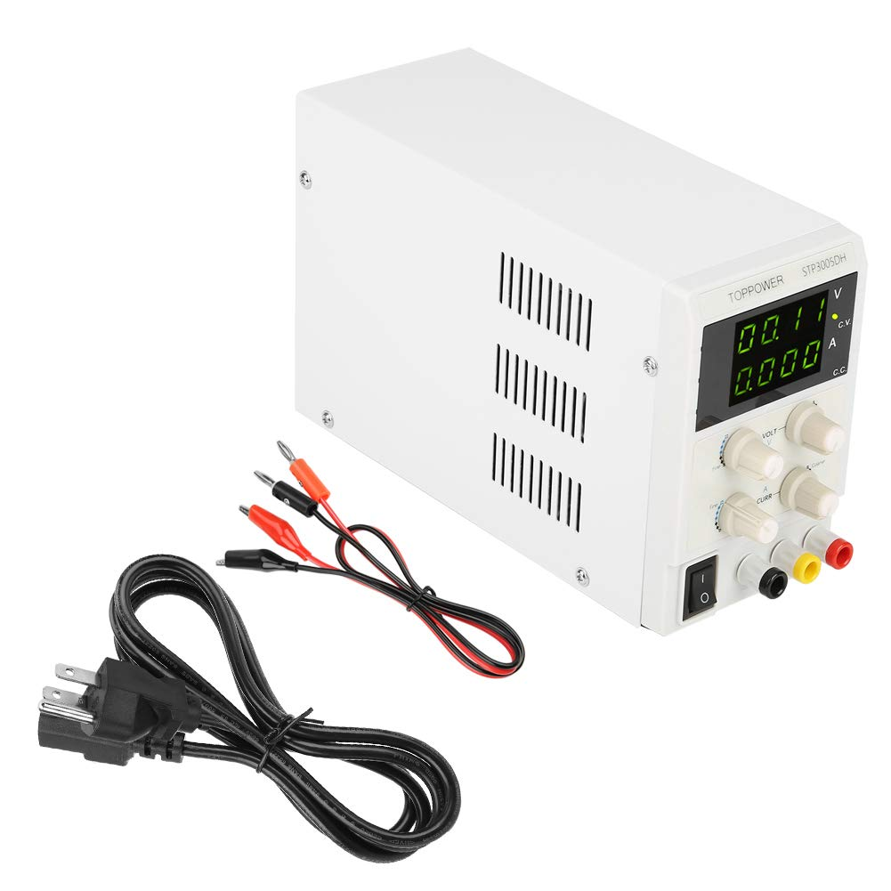 DC Power Supply, Mini Variable Regulated DC Power Supply 0-30V 0-5A 110V/220V Switchable for Work Station or Test Equipment Cabinet(#2)