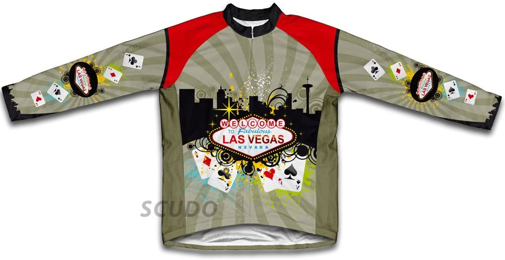 ScudoPro Las Vegas Fever Winter Thermal Cycling Jersey for Men
