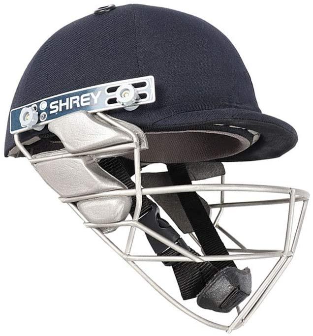 WHITEDOT SPORTS Shrey Pro Guard Wicket Keeping Stainless Steel Visor Cricket Helmet Size Large