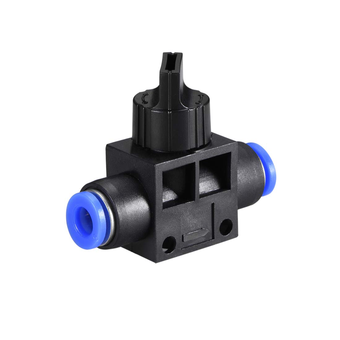 uxcell 6mm OD Pneumatic Air Flow Control Valve with Push-to-Connect Fitting,Union Straight,Pneumatic Air Controller Valve 2pcs