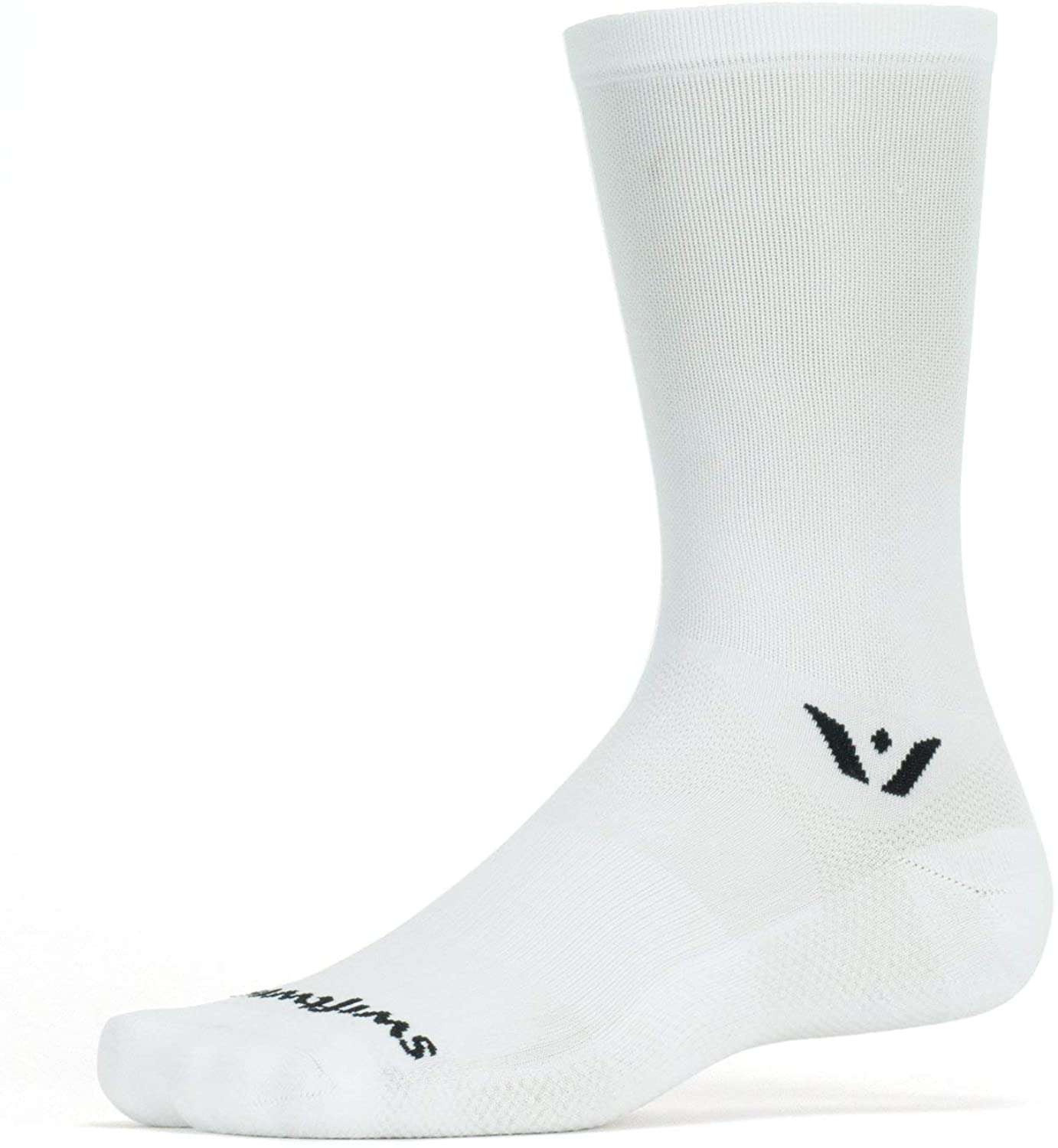 Swiftwick- ASPIRE SEVEN Cycling Socks, Firm Compression Fit, Tall Crew
