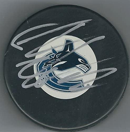 Thomas Vanek Signed Puck - Autographed NHL Pucks