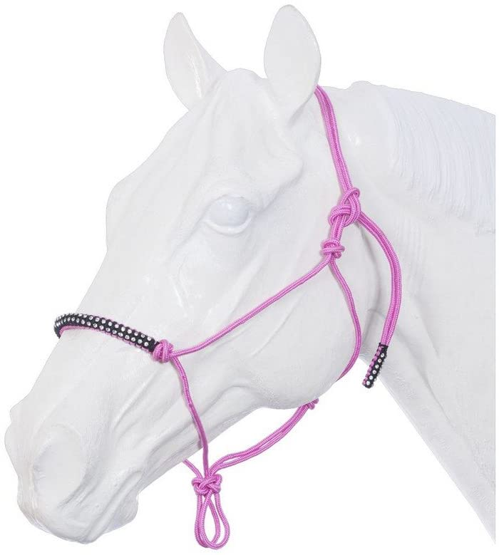 JTI Poly Rope Tied Halter with Crystal Accents Pink/Black