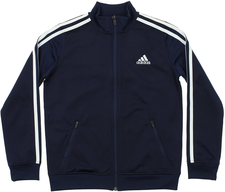 adidas Kids Boys Separates Training Track Jacket (Big Kids), Colligiante Navy/White SM (8