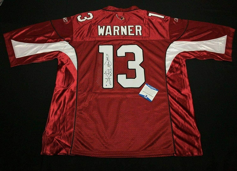 Kurt Warner Signed Arizona Cardinals Jersey
