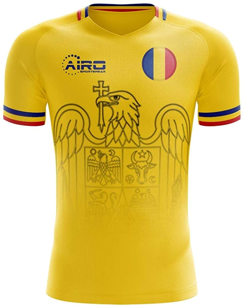 Airosportswear 2020-2021 Romania Home Concept Football Soccer T-Shirt Jersey