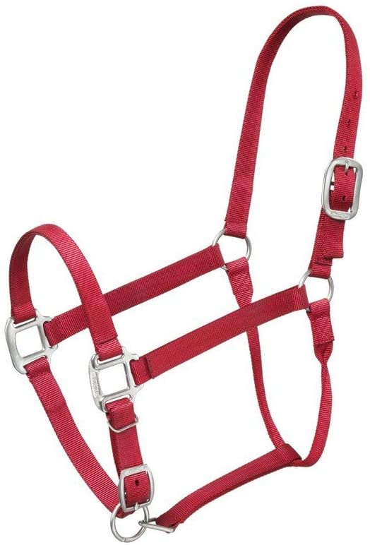 Tough 1 Premium Nylon Halter, Red,