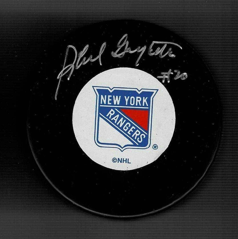 Autographed Phil Goyette Puck - Autographed NHL Pucks