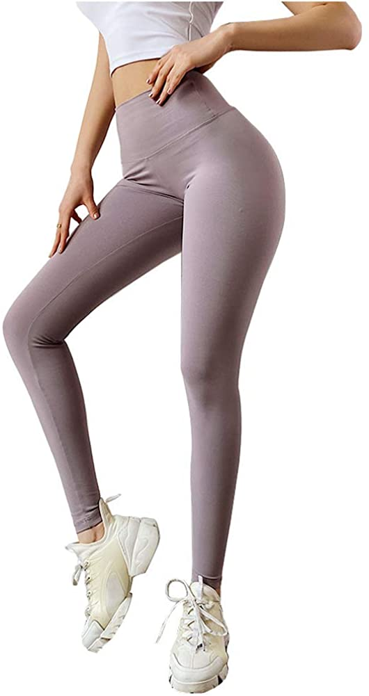 Angcoco Women's High Waisted Tummy Control Bow-tie Workout Leggings Yoga Pants
