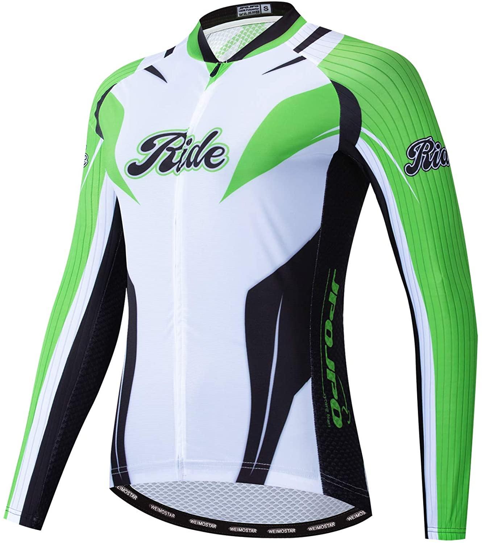 JPOJPO Women's Cycling Jersey Long Sleeve Bike Shirts Tops Lycal Cuff Reflective