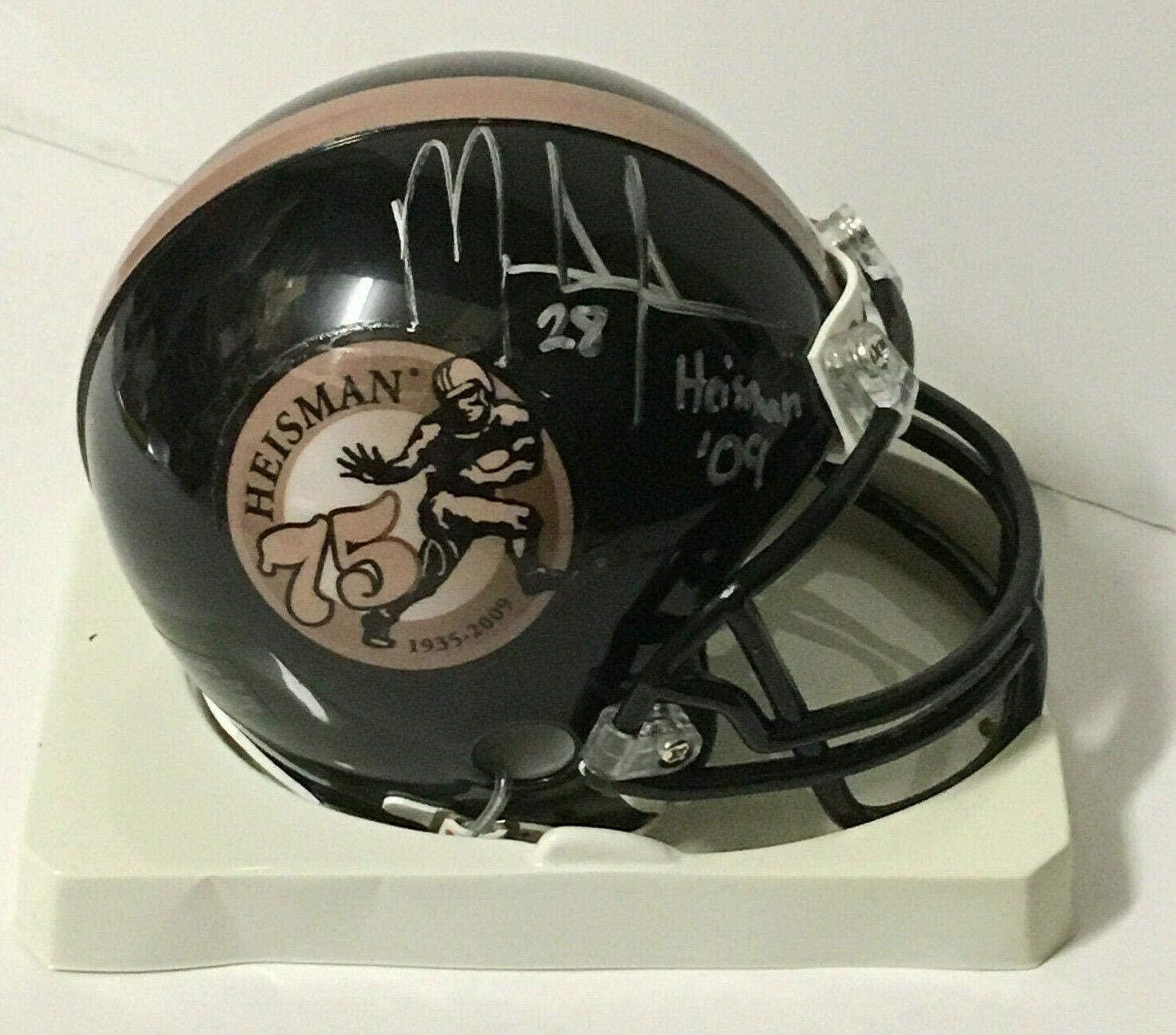 Mark Ingram Autographed Mini Helmet - ins 09 Heisman CBM COA - Autographed NFL Mini Helmets