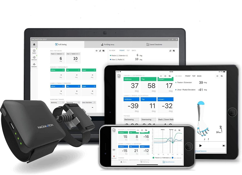 HackMotion Wrist Angle Golf Training Aid Sensor Improves Swing Plane