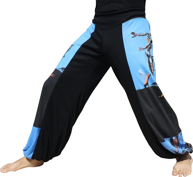 RaanPahMuang Side Patch Billowy Pants Salvadore Dali - Burning Giraffe
