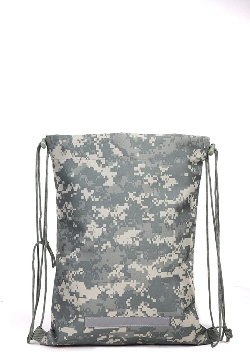 Tactical Heavy Duty Drawstring Backpack Army Military Sack (ACU 08059)