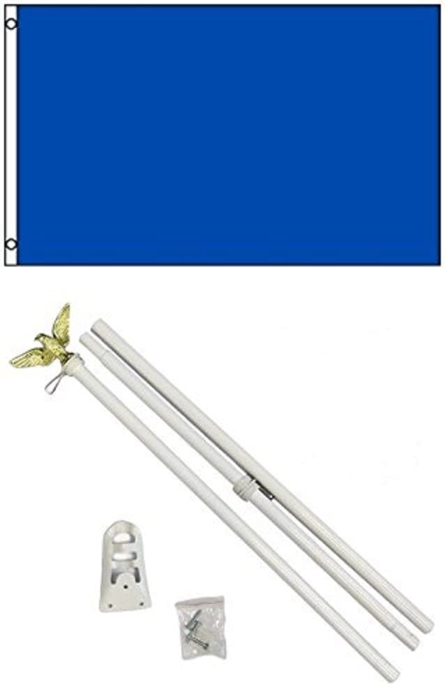 2x3 2x3 Advertising Solid Royal Blue Flag White Pole Kit