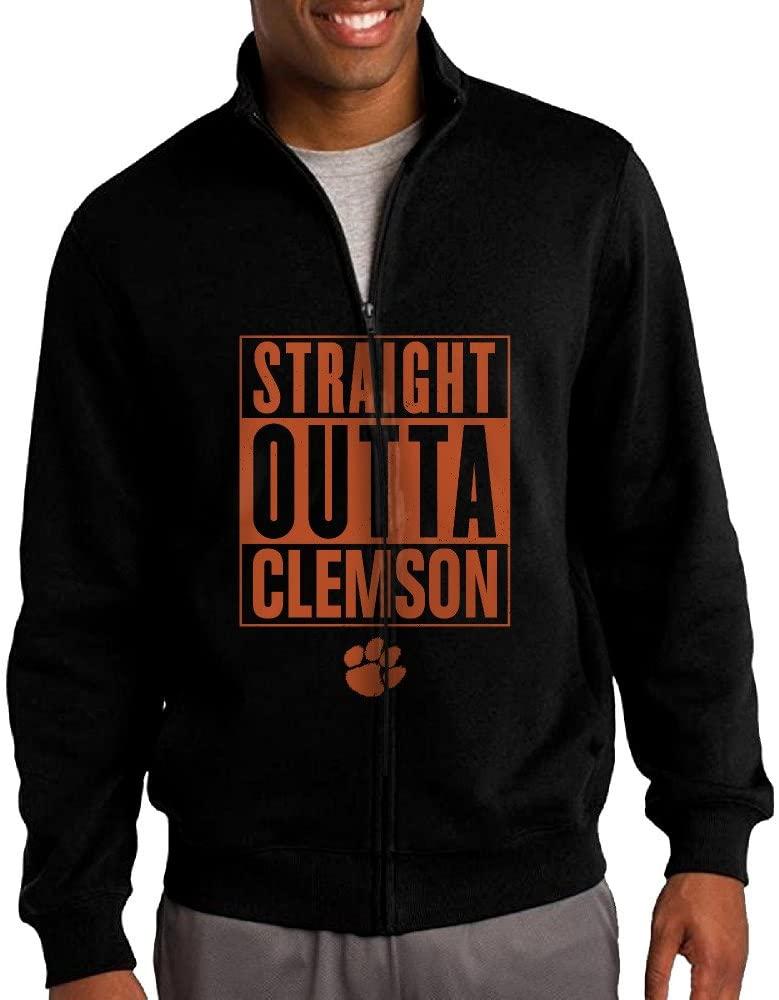 ILKU Men's Clemson University Zip-Front Sweatshirt Jacket Black