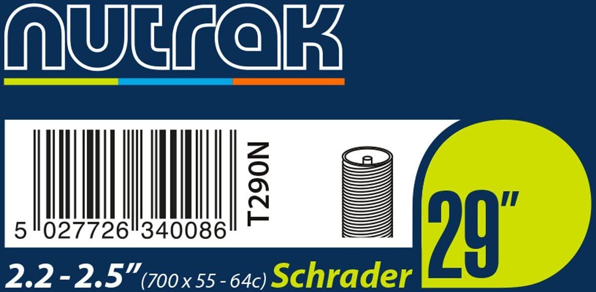 Nutrak Butyl Tube 29 x 2.2-2.5 (55/64-622) [700 x 55-64C] Schrader valve