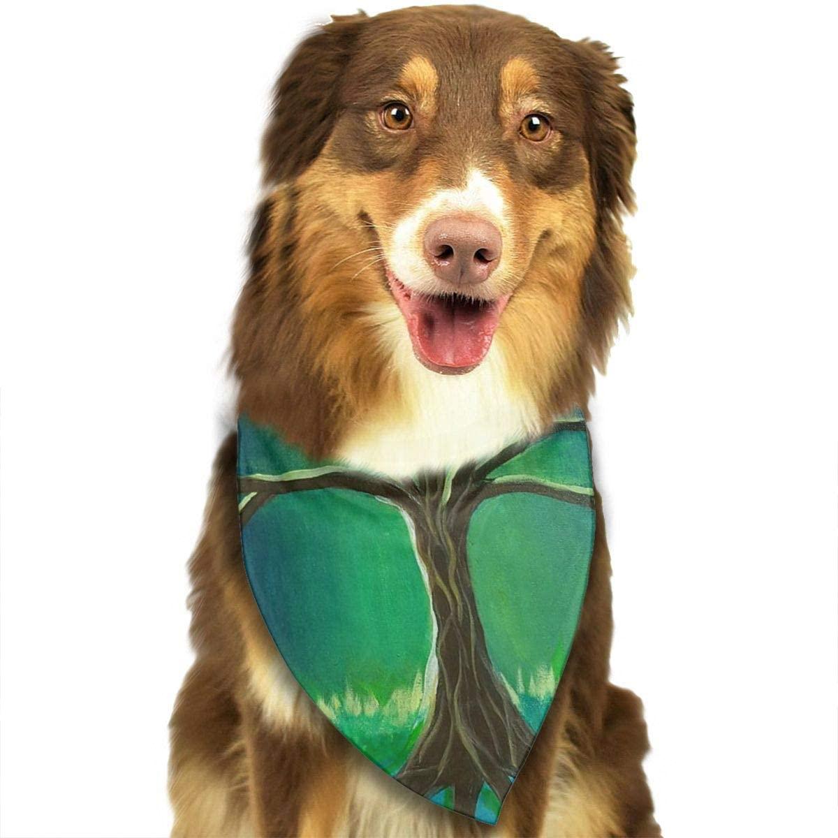 Ruin The Tree of Life Triangle Neckerchief Puppy Triangle Triangle Bibs Scarfs for Pet Dogs