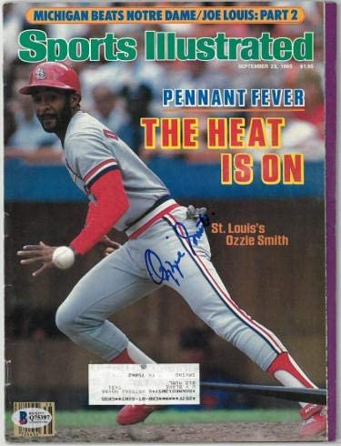 Ozzie Smith signed St. Louis Cardinals Sports Illustrated Full Magazine 9/23/1985- Beckett/BAS Hologram #Q75397 - Beckett Authentication