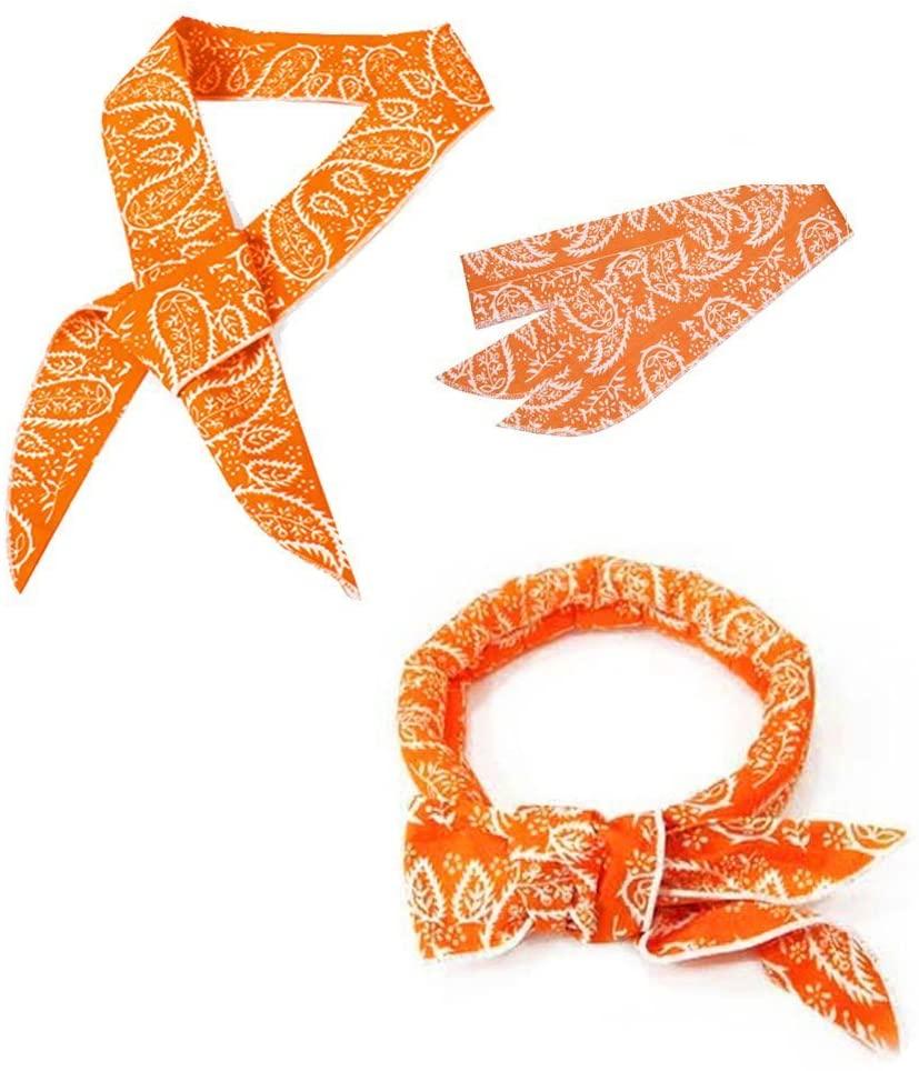 JellyBeadZ Brand Neck Cooling Scarf Wrap, Keep You Cool, Bandana, Orange