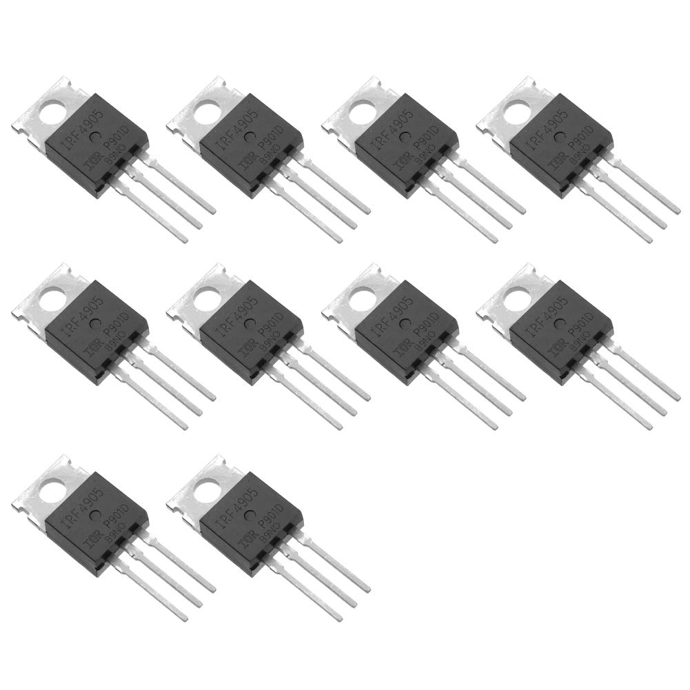 Bridgold 10pcs IRF4905 IRF4905P IRF4905PBF P Channel,Power Mosfet Transistor 74 A/55 V TO-220AB