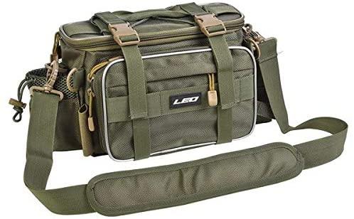 LELEXI : 401720cm Fishing Bag Multifunctional Waterproof Outdoor Waist Shoulder Bag Case Reel Lure Storage Bag Fishing Tackle