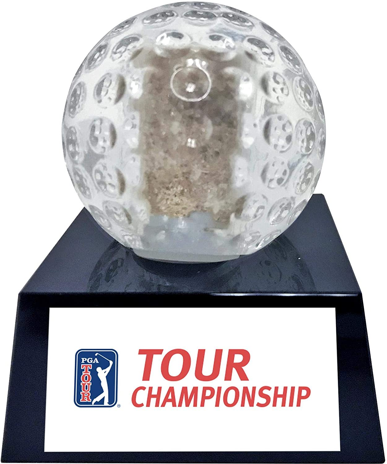 2018 TOUR Championship Crystal Golf Ball - Filled with Bunker Sand from the 2018 TOUR Championship - Golf Tournament Used