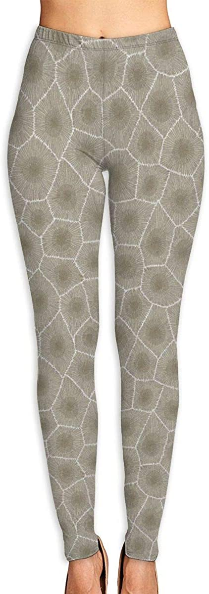 FIRECACA Yoga Pants Petoskey Stone Natural High Waist Ultra Soft Lightweight Yoga Leggings Tummy Control