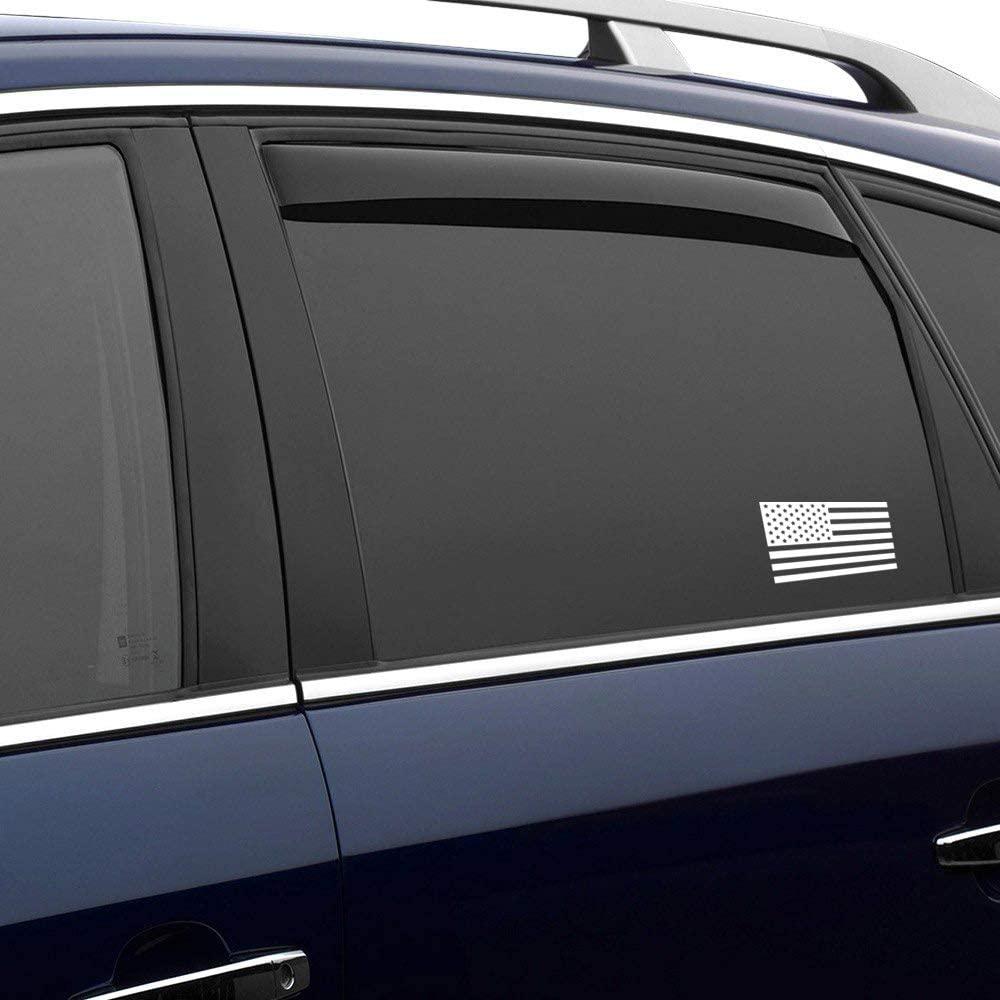 N/ A US American Flag Patriotic Silhouette Vinyl Sticker Graphic Bumper Tumbler Decal for Vehicles Car Truck Windows Laptop MacBook Phone Wall Door