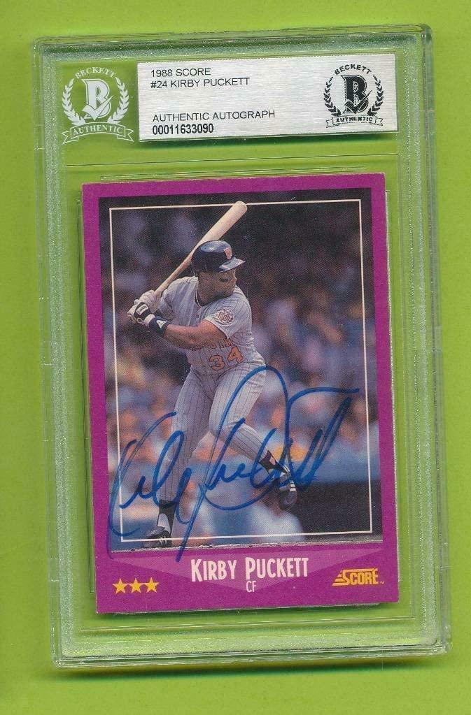 Kirby Puckett Autographed Signed 1988 Score - (D. 2006) Twins Beckett Authentic Beckett