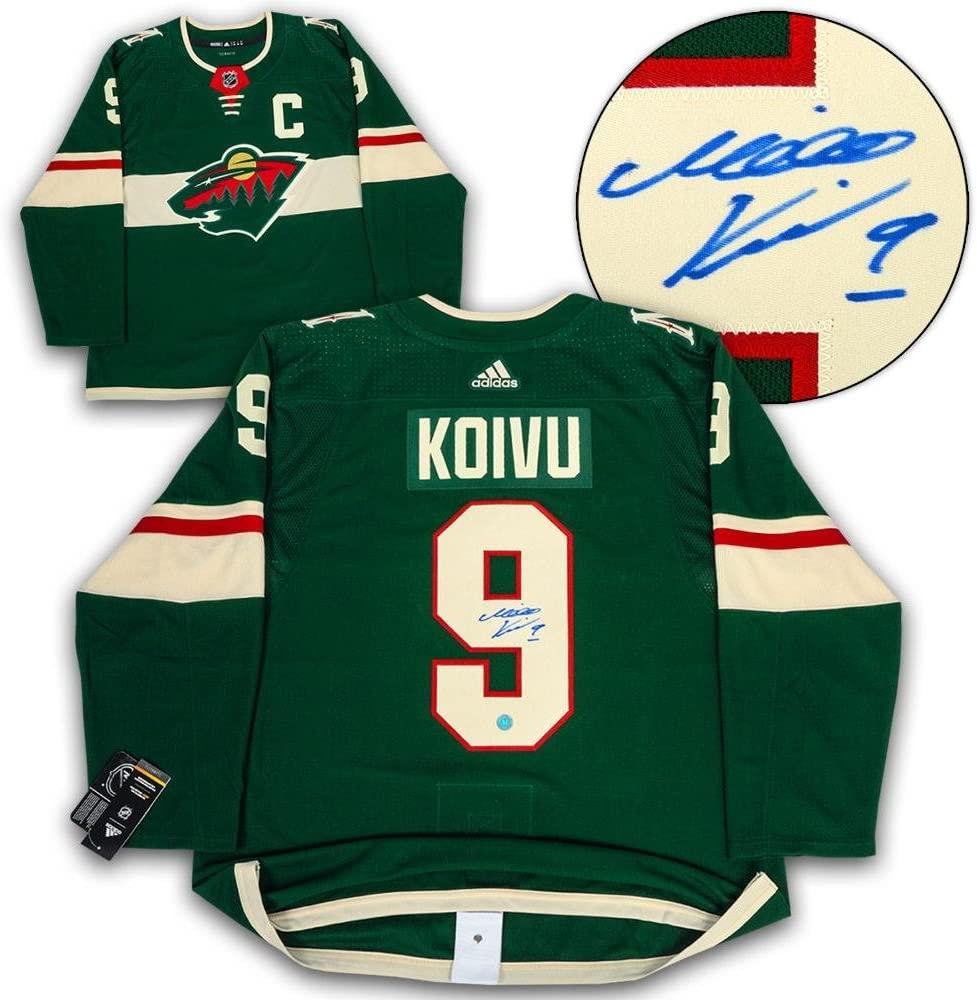 Signed Mikko Koivu Jersey - Adidas - Autographed NHL Jerseys