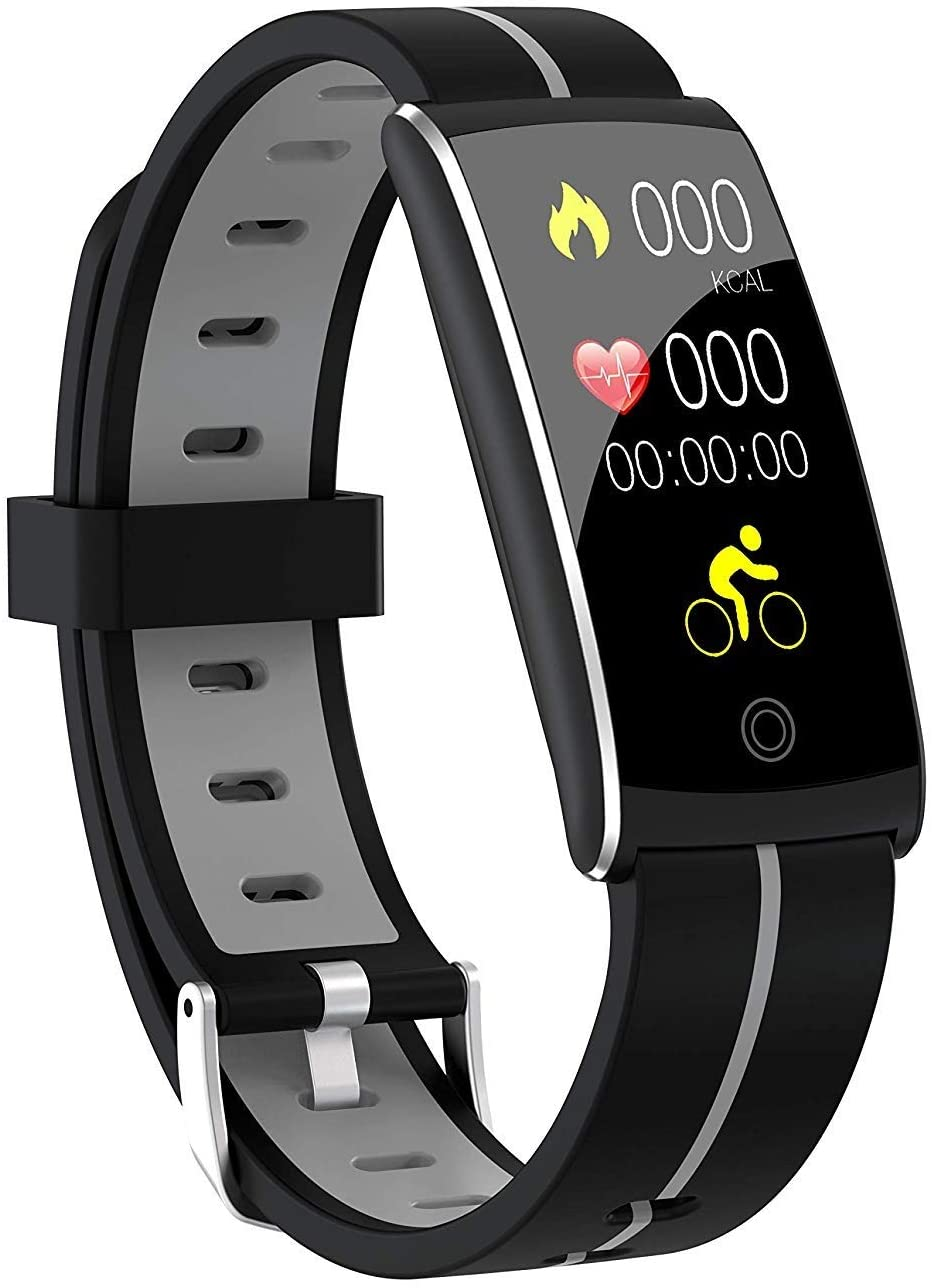 TWDYC Fitness Tracker,Activity Tracker Smart Watch Health Bracelet Waterproof Wristband with Heart Rate Blood Pressure Pedometer Sleep Monitor Calorie Step Counter (Color : C)