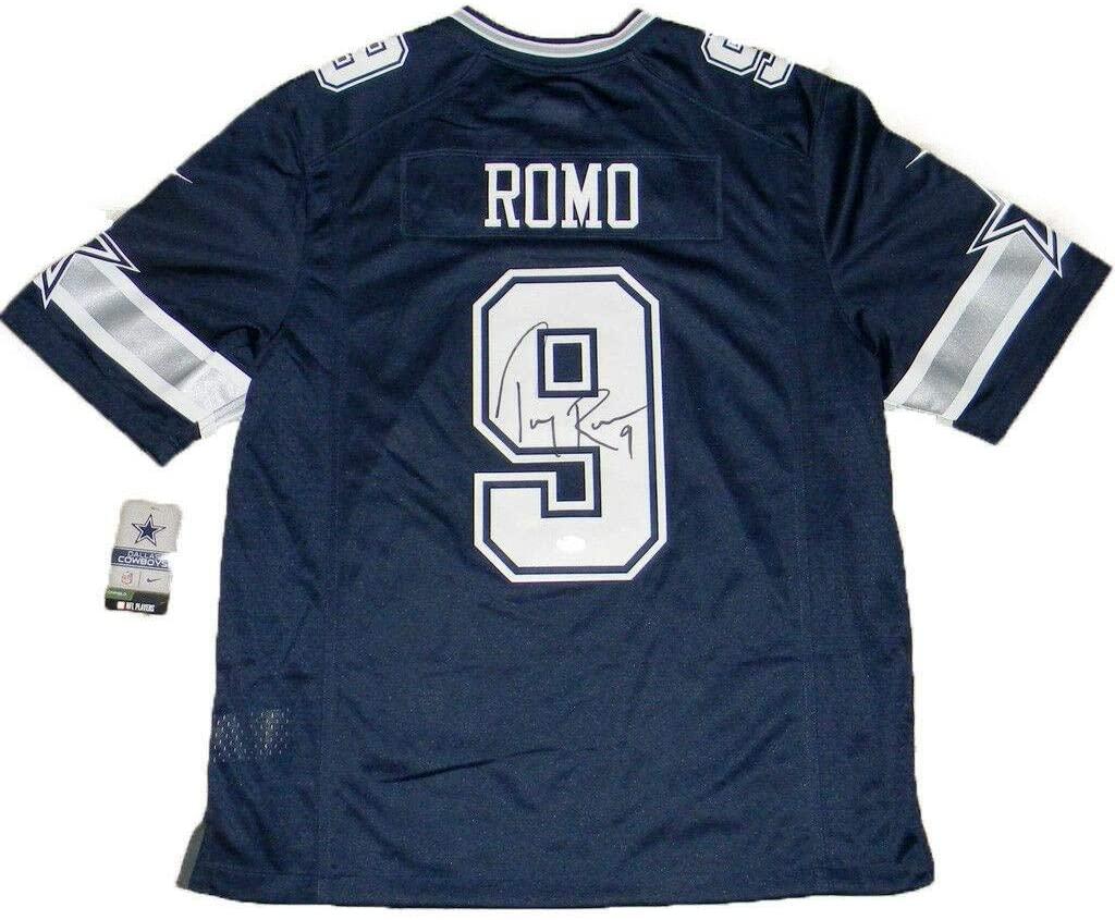 Tony Romo Autographed Jersey - #9 Nike Limited Navy - JSA Certified - Autographed NFL Jerseys