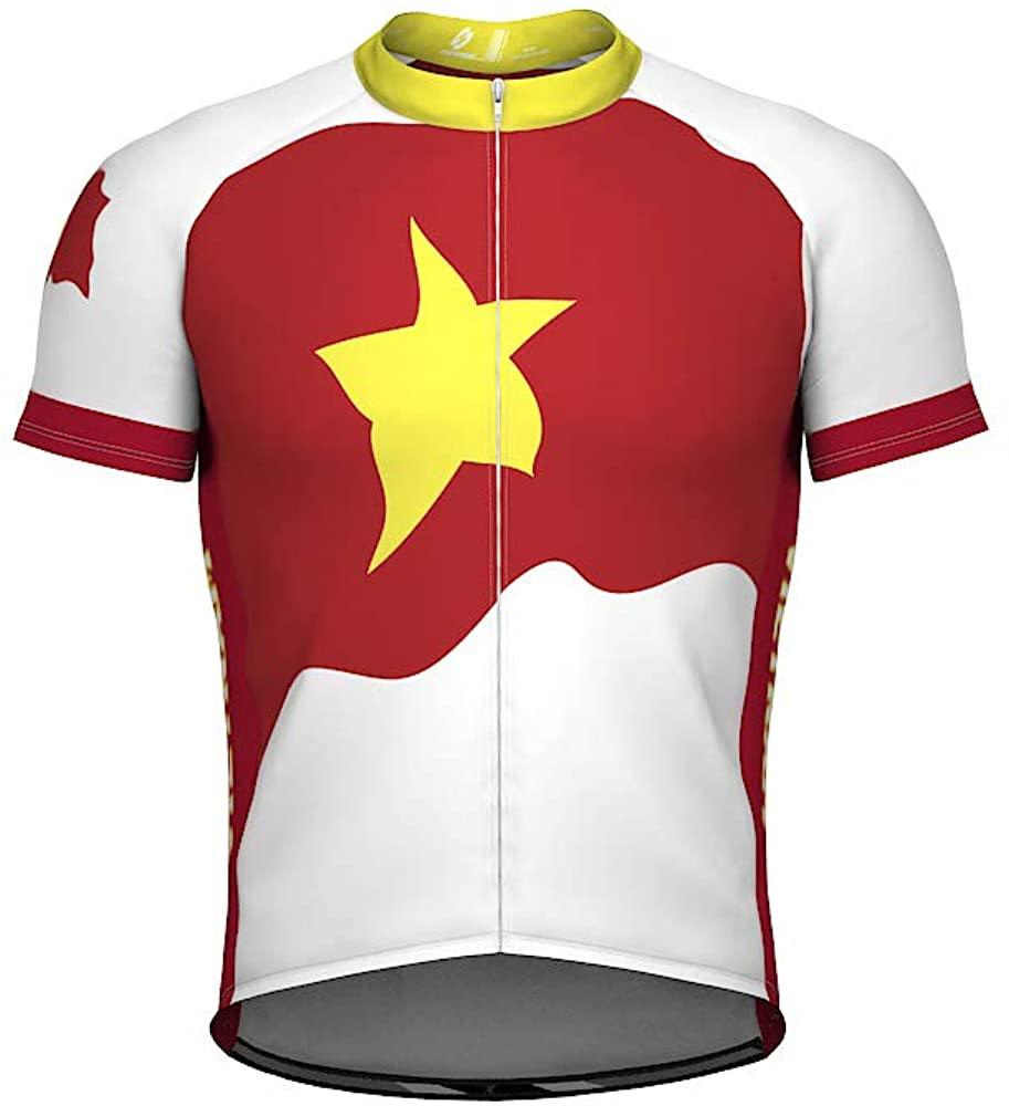 ScudoPro Vietnam Emblem Full Zipper Bike Short Sleeve Cycling Jersey for Women