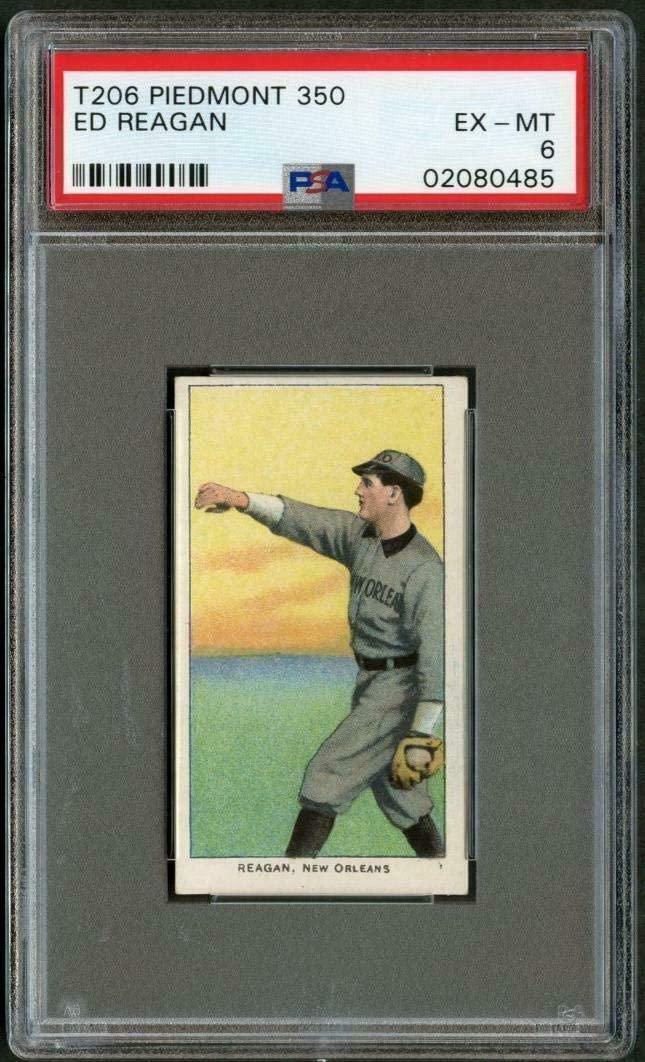 T206 1909 Ed Reagan New Orleans PSA 6 02080485 - Baseball Slabbed Vintage Cards