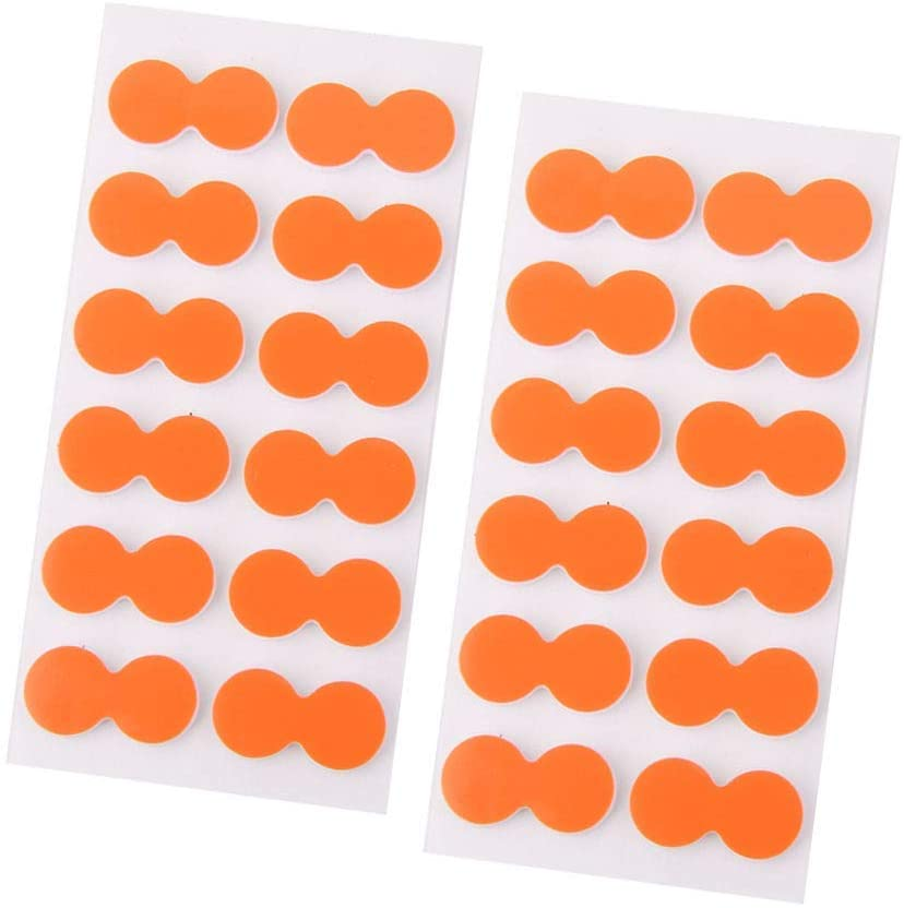 Dongyue 24 Pieces Fly Fishing Strike Indicators Stickers on Float Suit for Outdoor Fly Fishing Orange